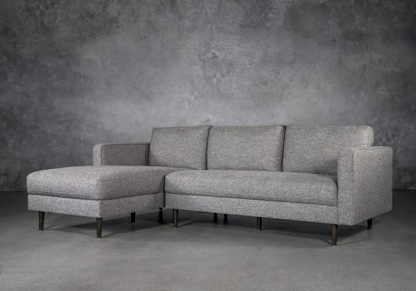 Cooper Sectional in Grey Fabric, SL, Angle