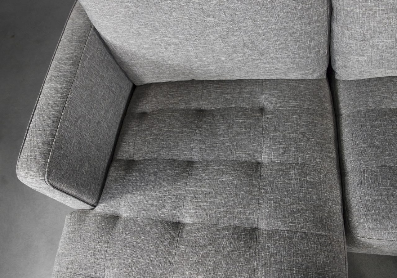 Cooper Sectional in Grey Fabric, SL, Detail