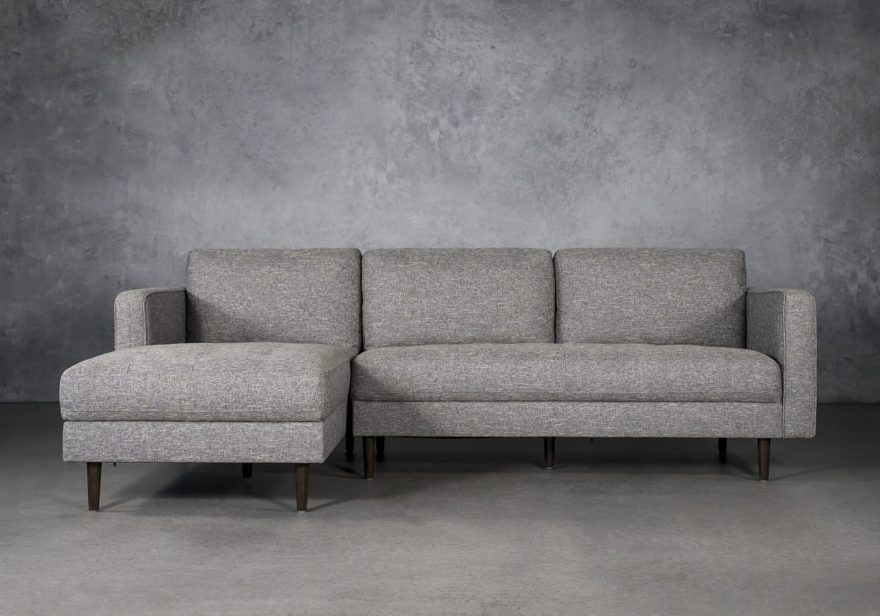 Cooper Sectional in Grey Fabric, SL, Front