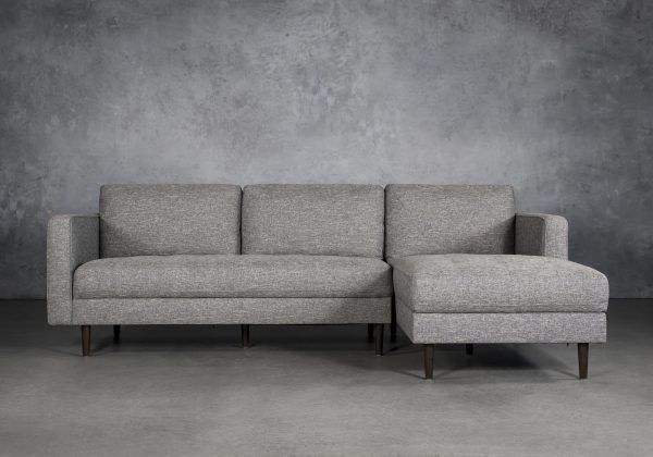 Cooper Sectional in Grey Fabric, SR, Front