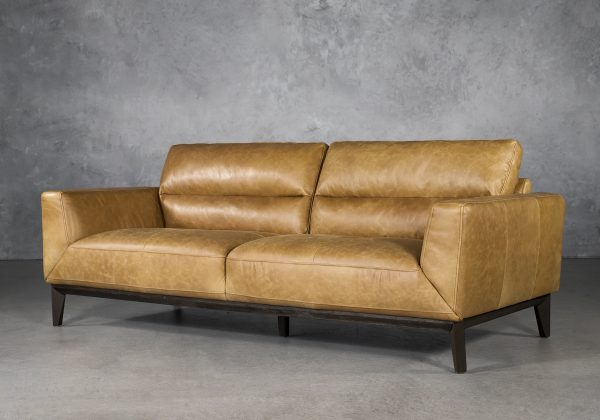Doolin Sofa in Camel Leather, Angle