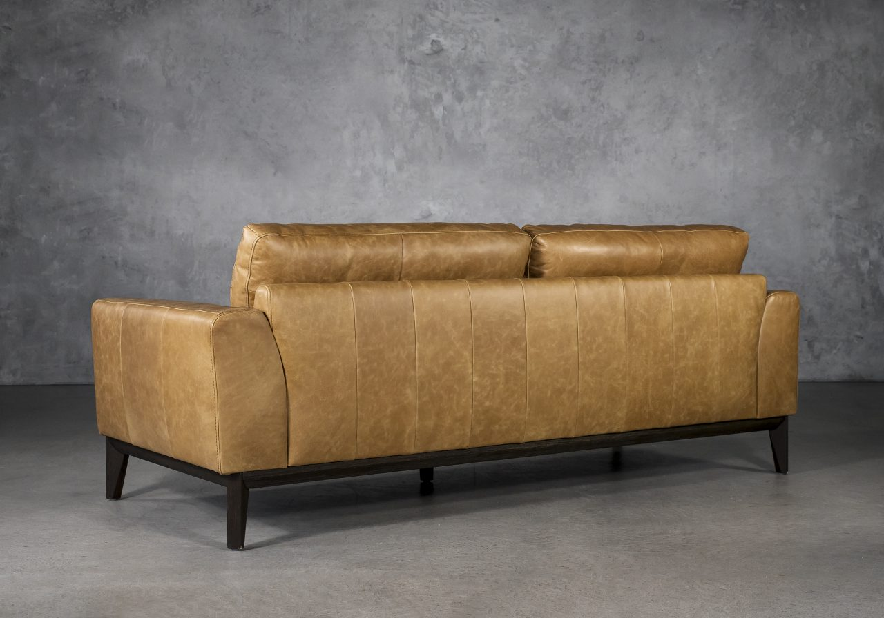 Doolin Sofa in Camel Leather, Back