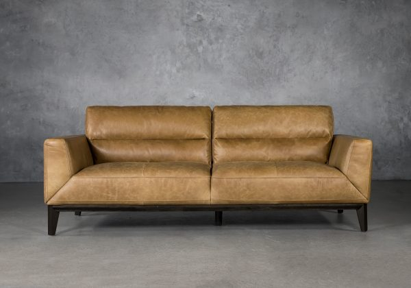 Doolin Sofa in Camel Leather, Front
