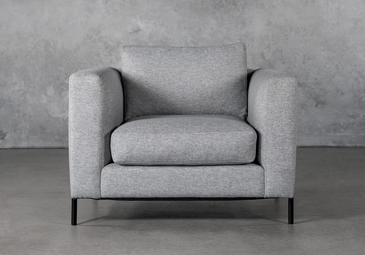 Gerald Chair in Grey Fabric, Front