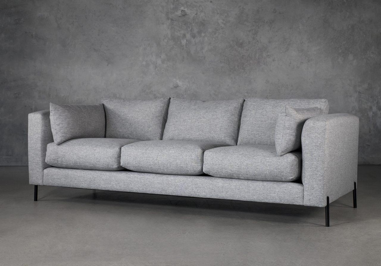 Gerald Sofa in Grey Fabric, Angle