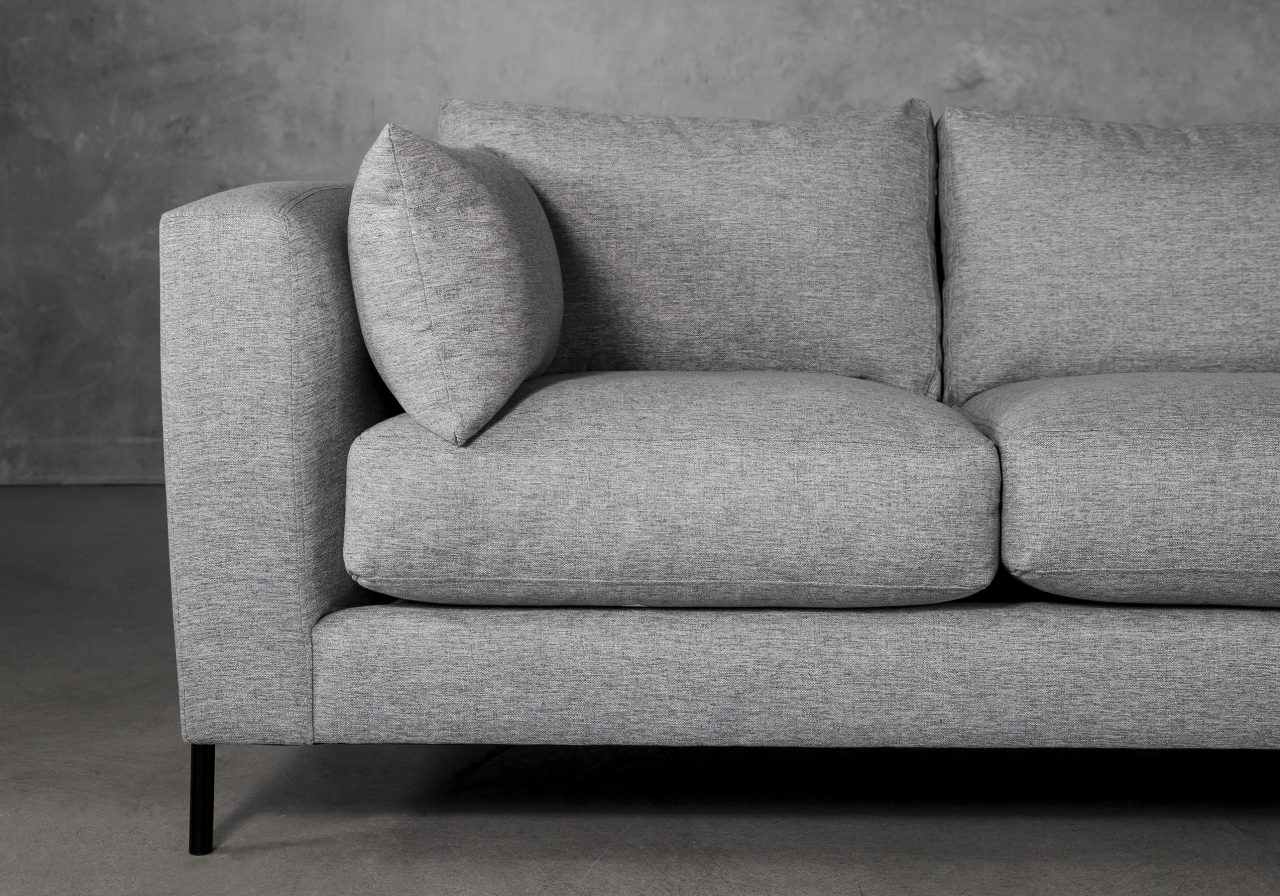 Gerald Sofa in Grey Fabric, Close Up