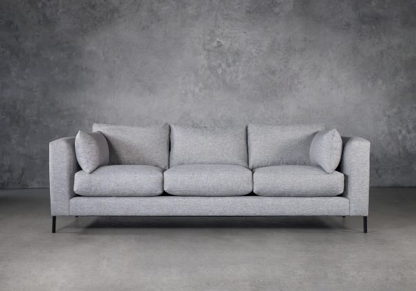 Gerald Sofa in Grey Fabric, Front
