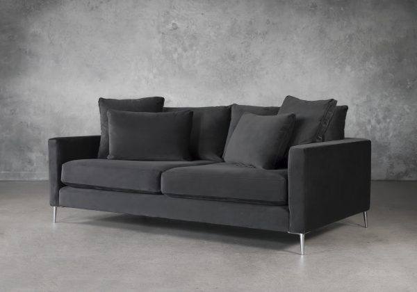 Invidia Sofa in Grey Fabric, Angle