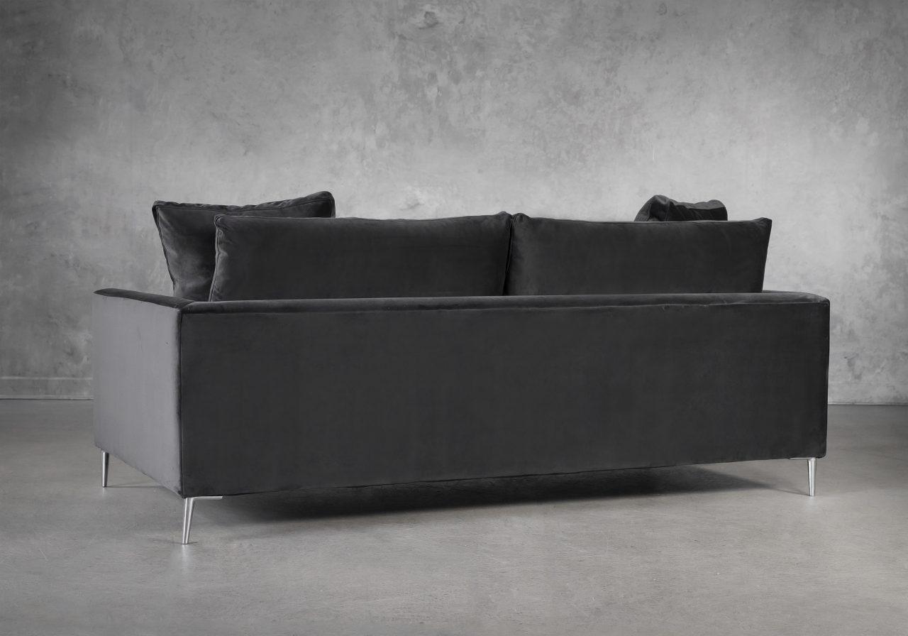 Invidia Sofa in Grey Fabric, Back