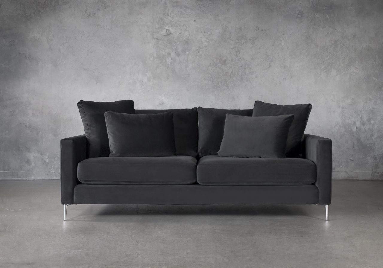 Invidia Sofa in Grey Fabric, Front