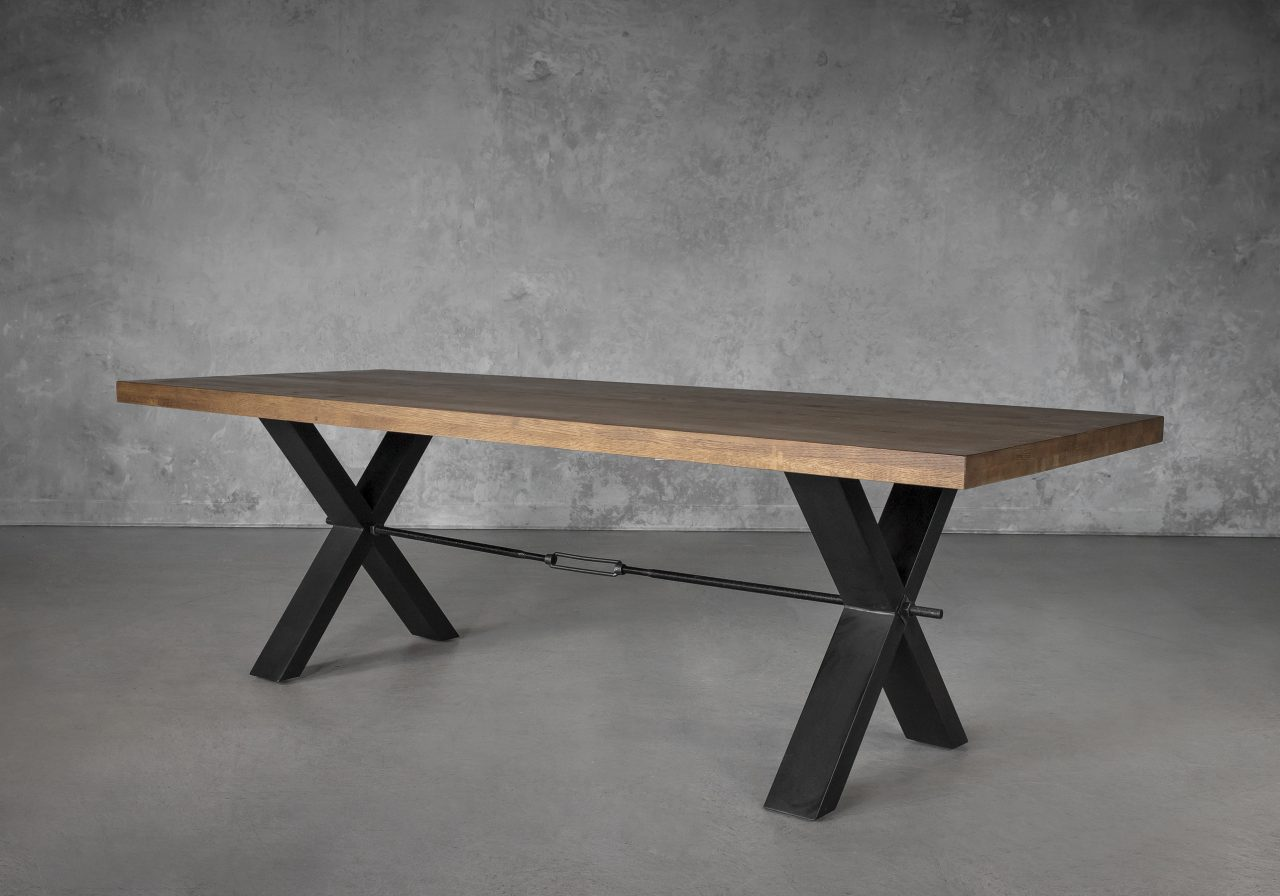 Ironside Large Dining Table, Angle