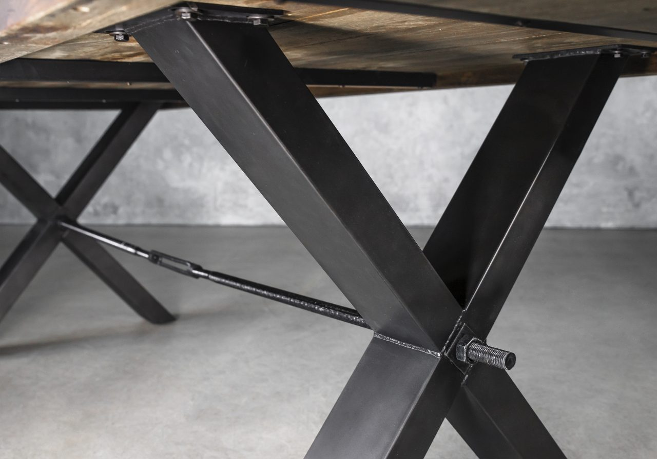 Ironside Large Dining Table, Base Detail