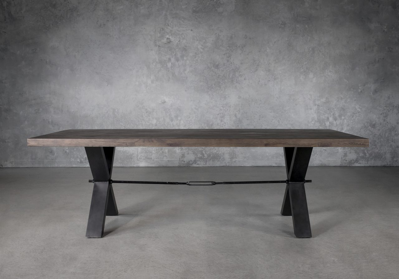 Ironside Large Dining Table in Wenge, Front