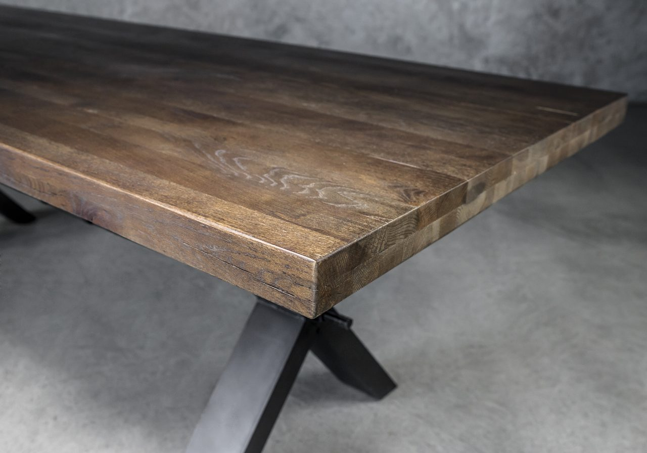 Ironside Large Dining Table in Wenge, Top Angle