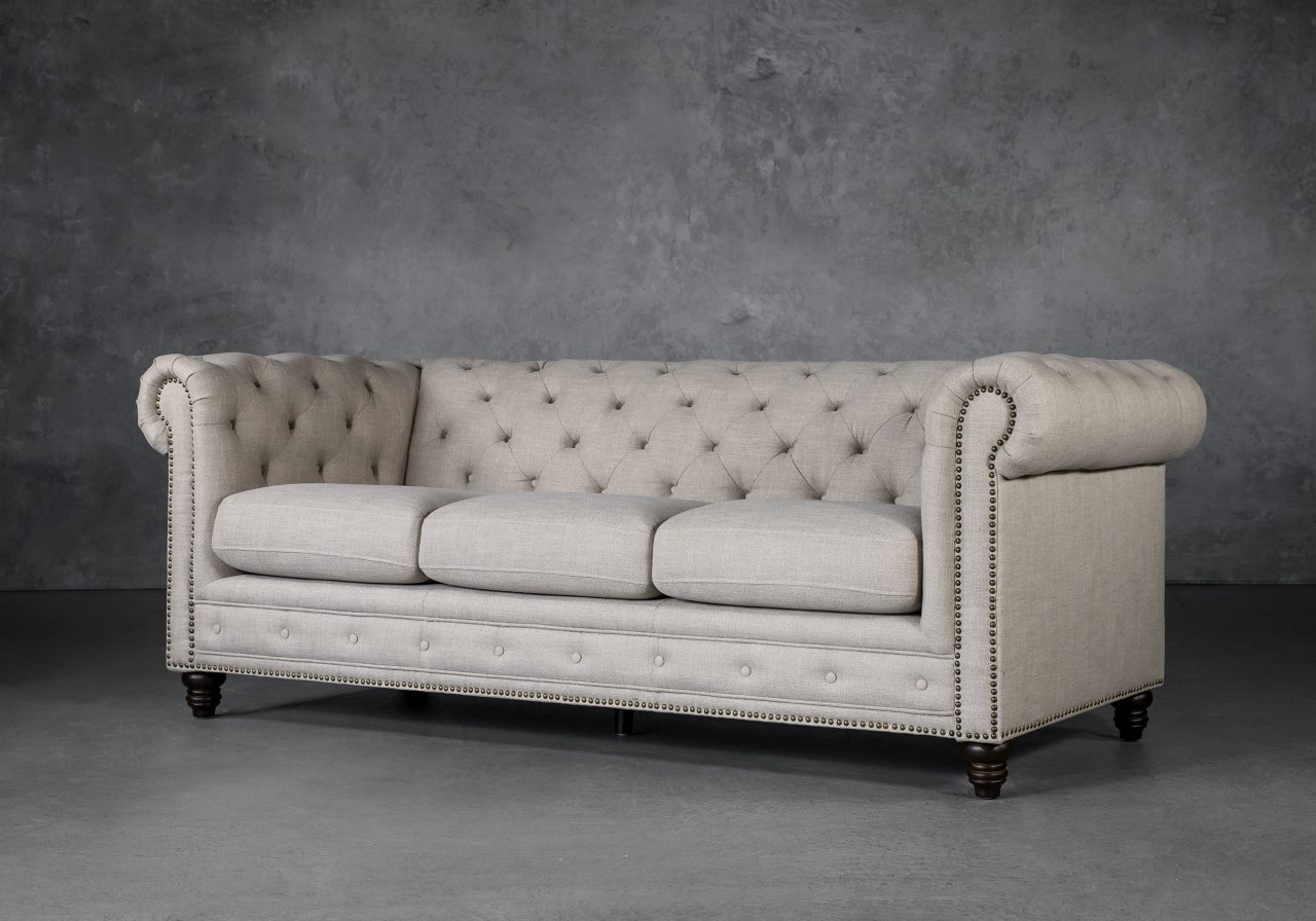 Ivy Sofa in Flax Fabric, Angle