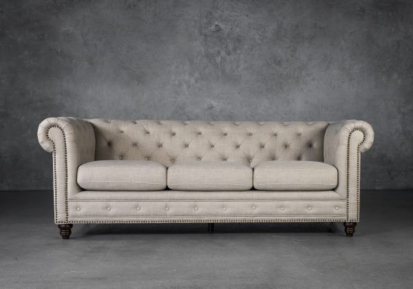 Ivy Sofa in Flax Fabric, Front