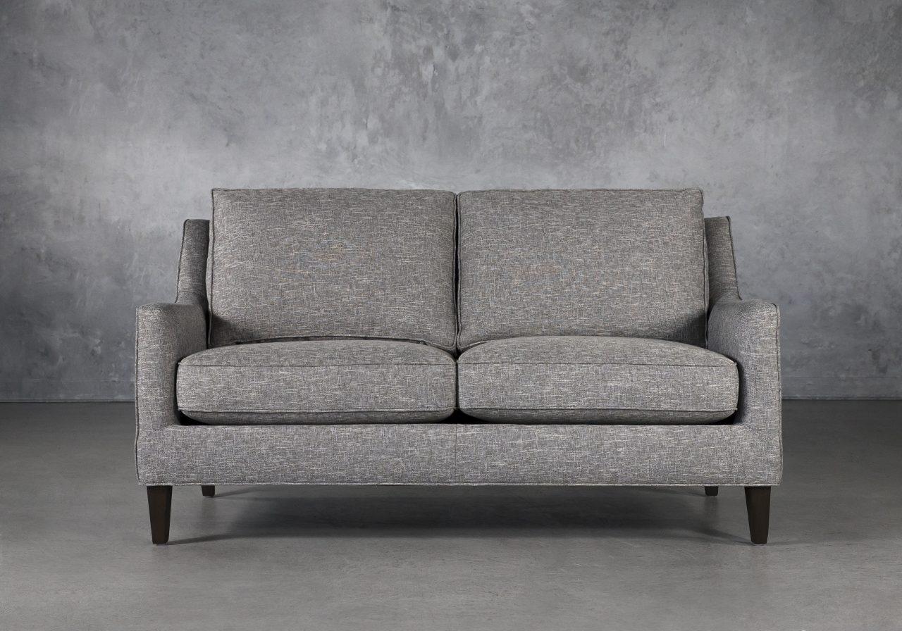 Jen Loveseat in Grey Fabric, Front