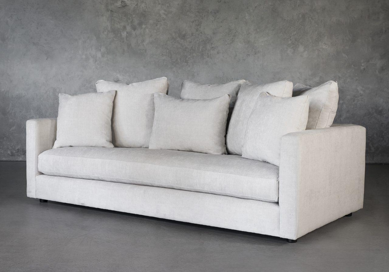 Leah Sofa in Sand Fabric, Angle