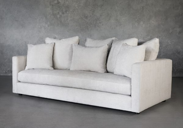 Leah Sofa in Sand Fabric, Angle