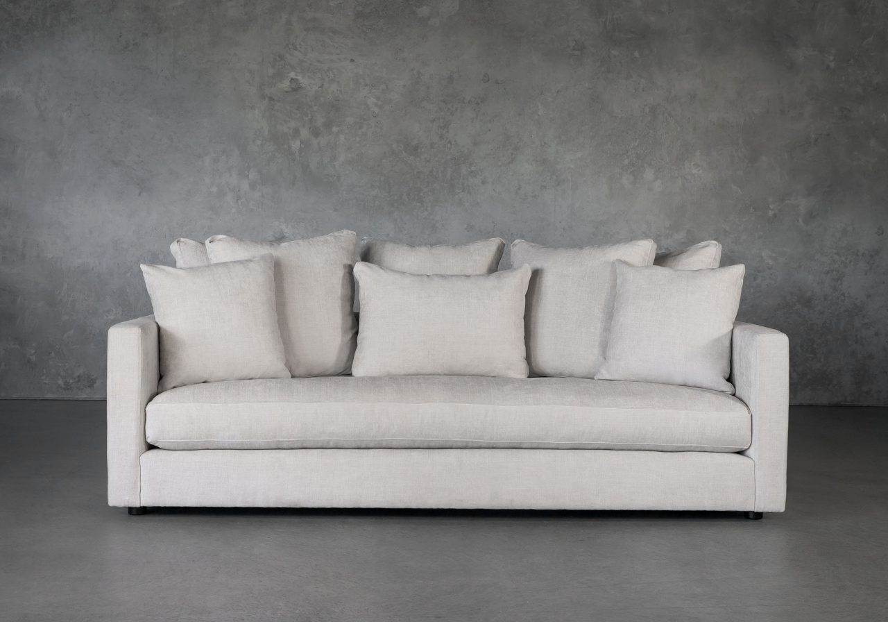 Leah Sofa in Sand Fabric, Front