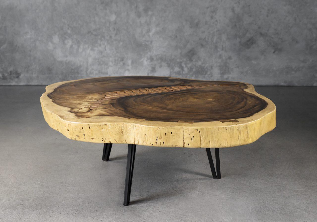 Live Edge Coffee Table, Angle