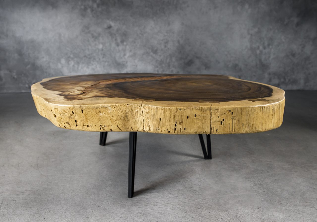 Live Edge Coffee Table, Front