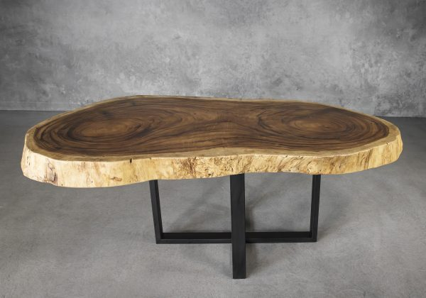 Live Edge Dining Table Round, Front