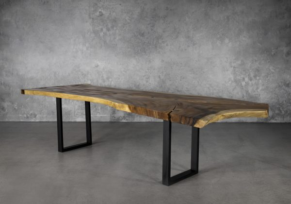Live Edge Dining Table, Y Angle