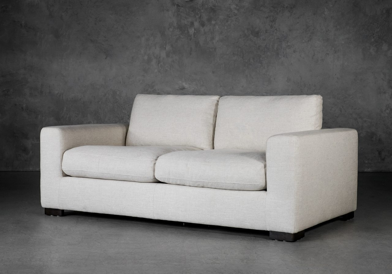 Lucca Loveseat in Linen Fabric, Angle