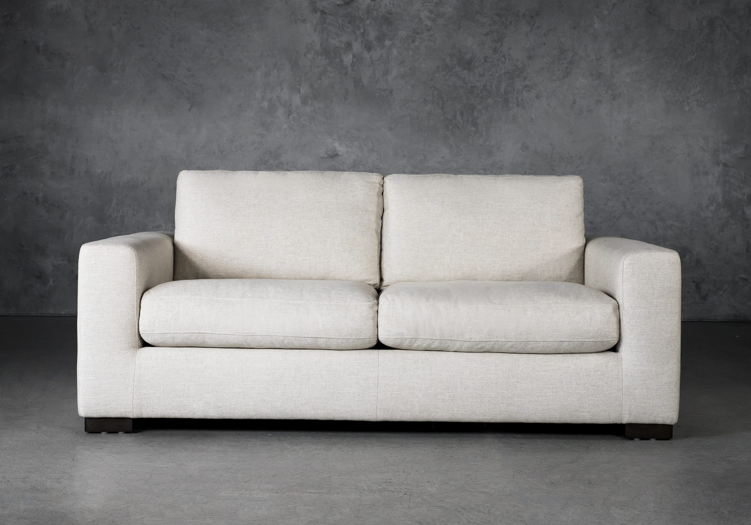 Lucca Loveseat in Linen Fabric, Front