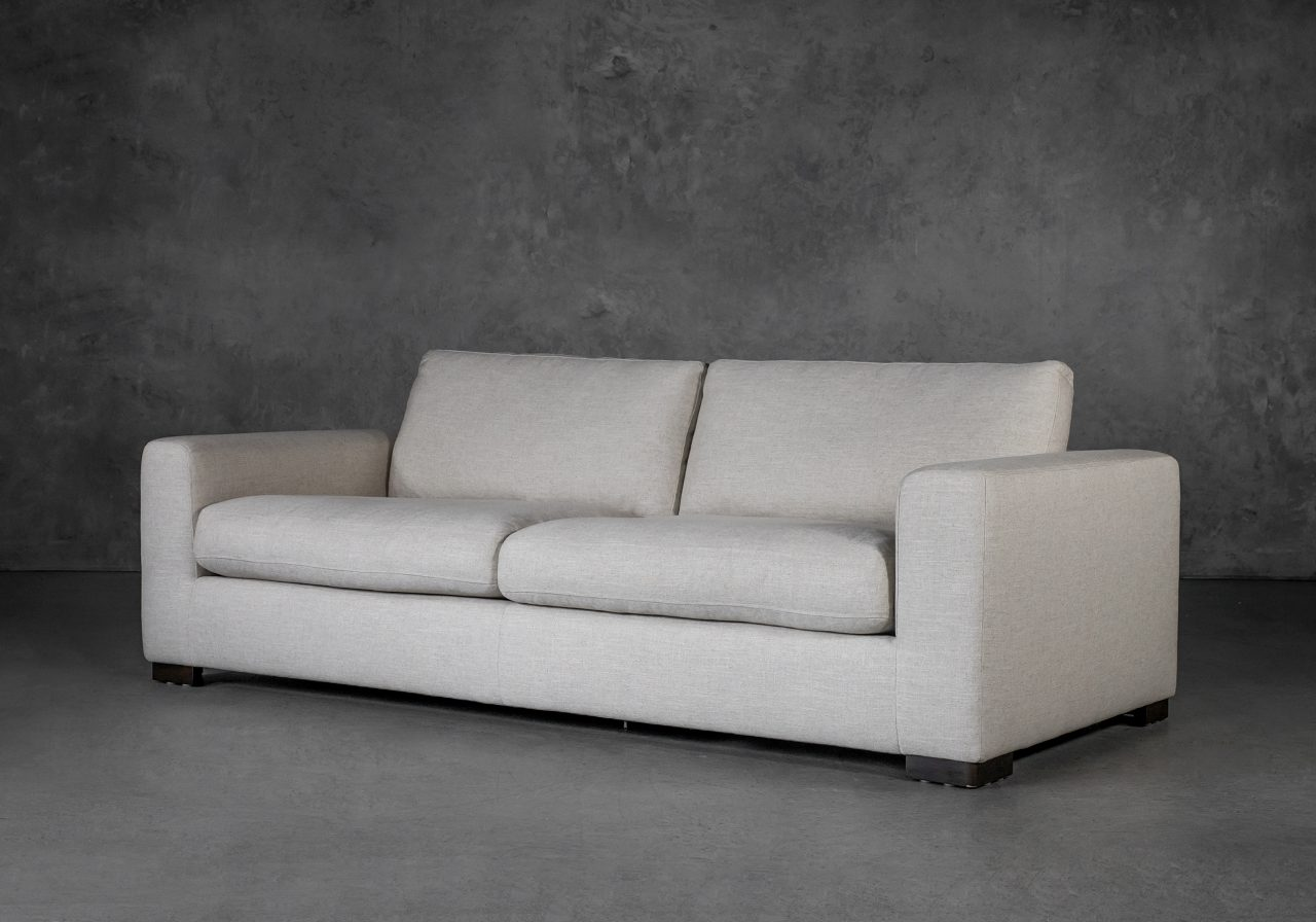 Lucca Sofa in Linen Fabric, Angle