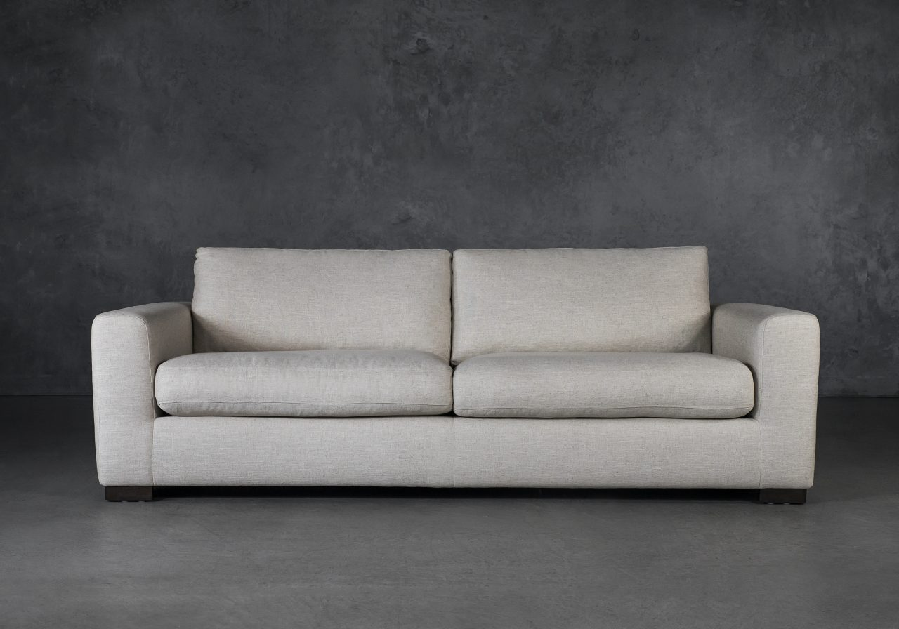 Lucca Sofa in Linen Fabric, Front