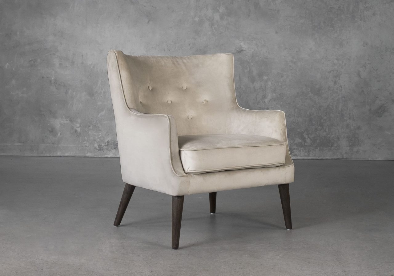 Marley Chair in Beige C686 Fabric, Angle