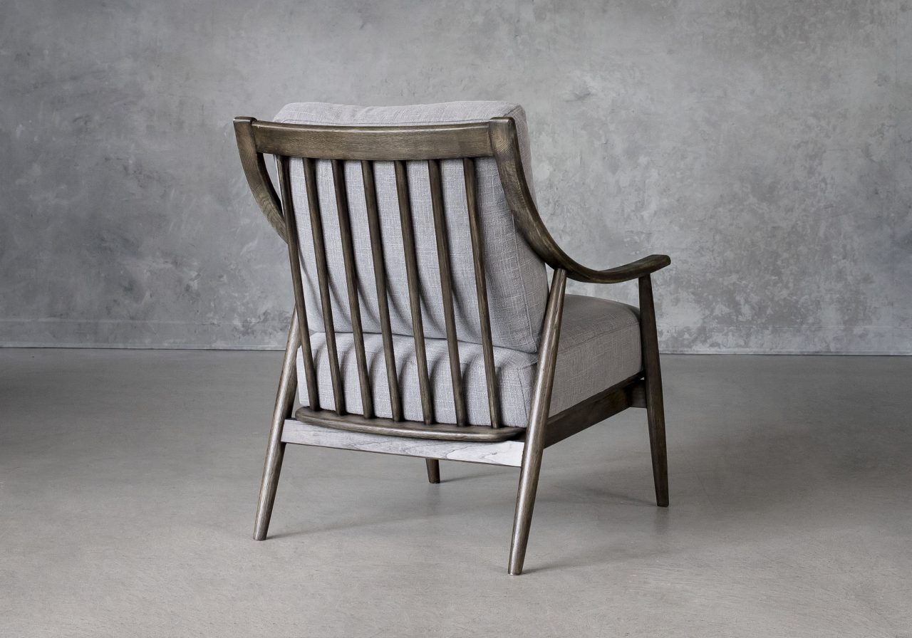 Mart Accent Chair in Grey Fabric, Back