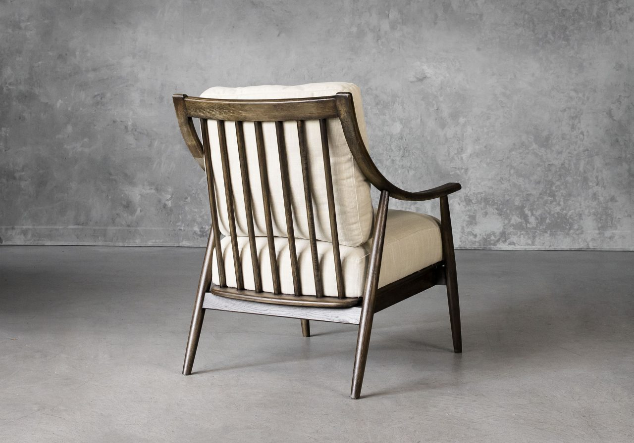 Mart Accent Chair in Linen Fabric, Back