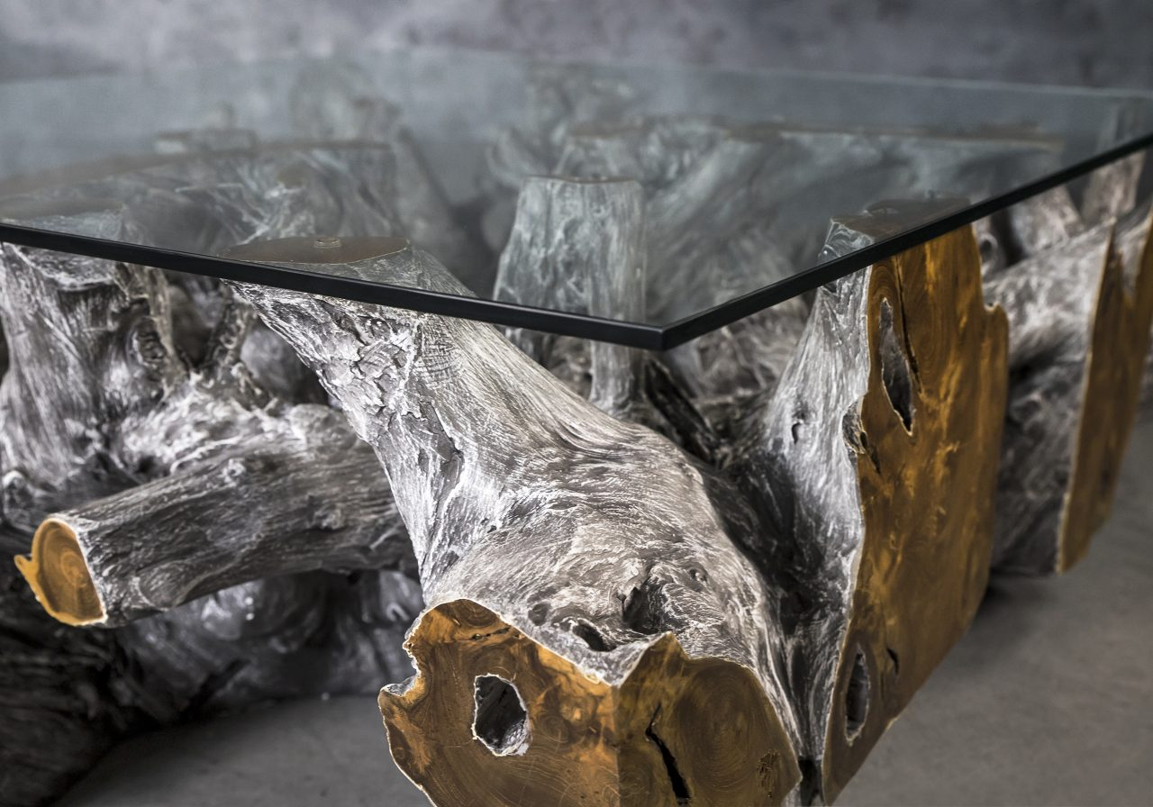 Montana Coffee Table in Grey, Close Up
