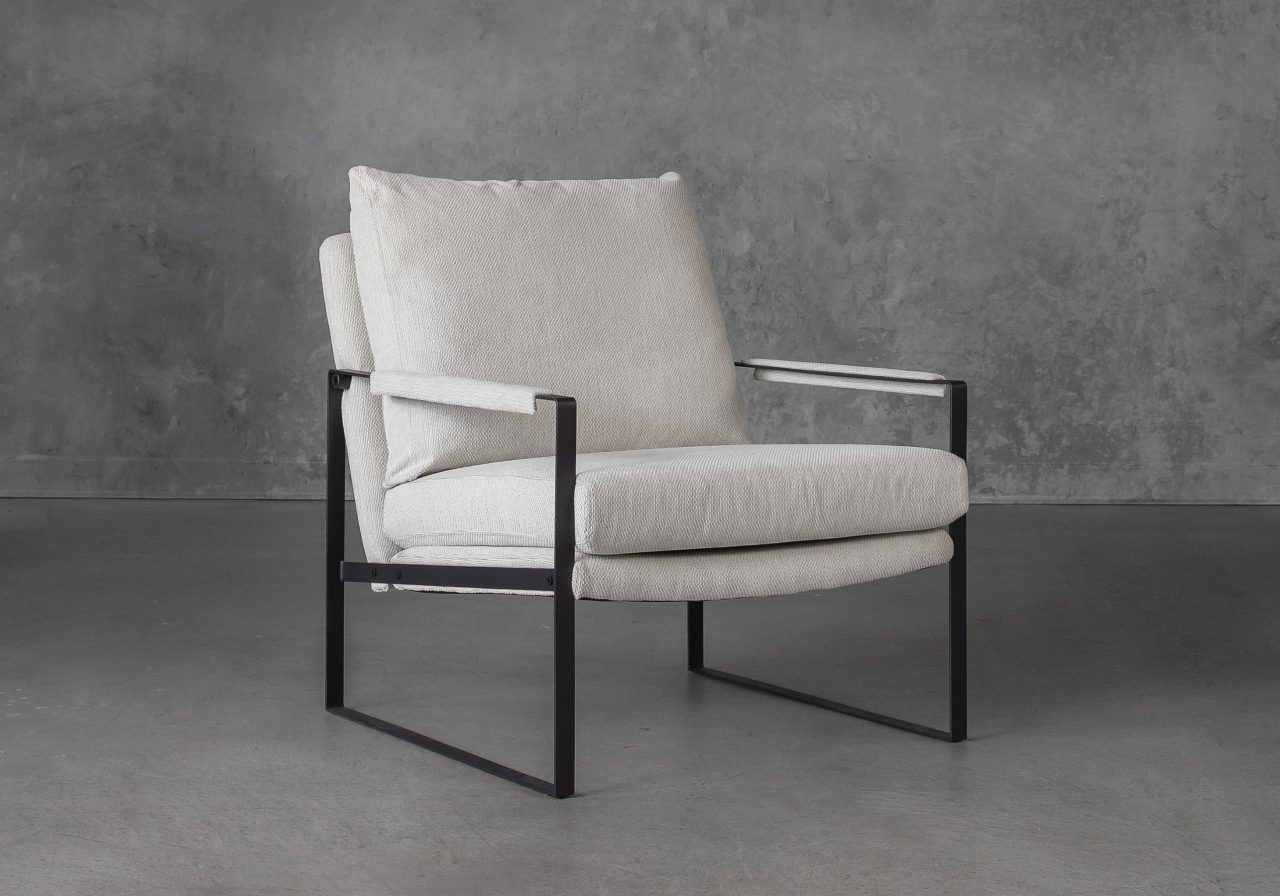 Reggie Chair in Beige fabric, Angle