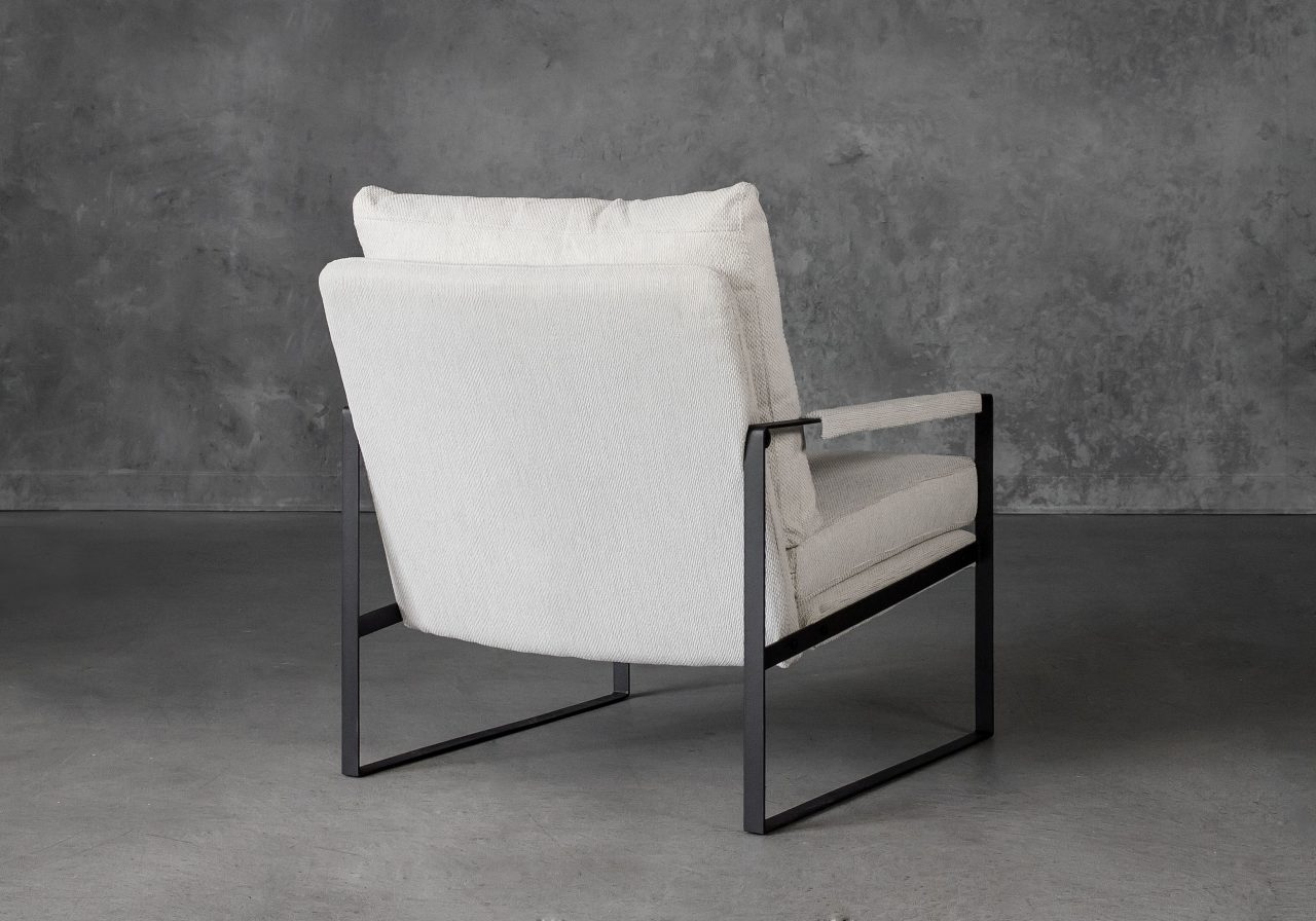 Reggie Chair in Beige fabric, Back