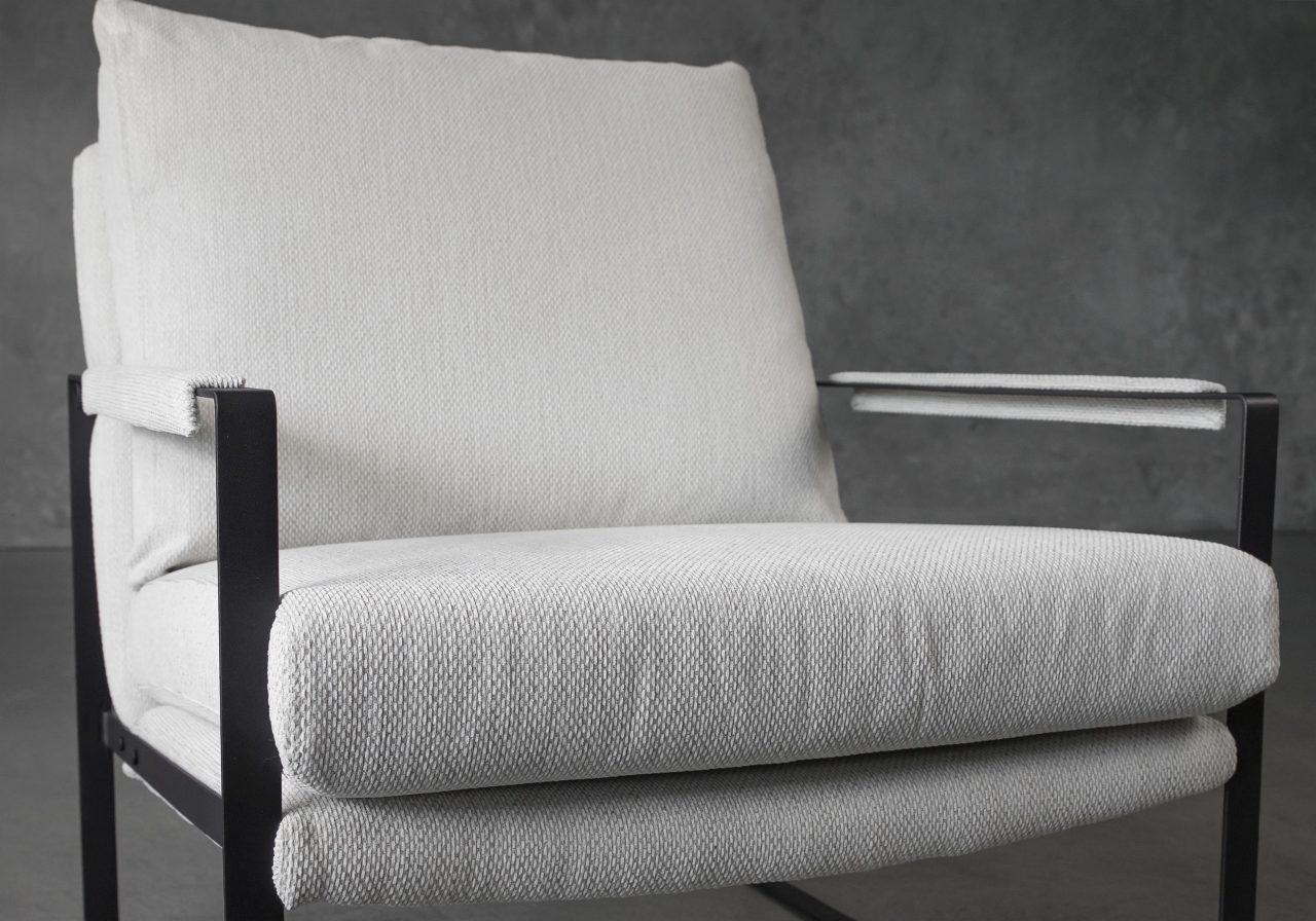 Reggie Chair in Beige fabric, Close Up
