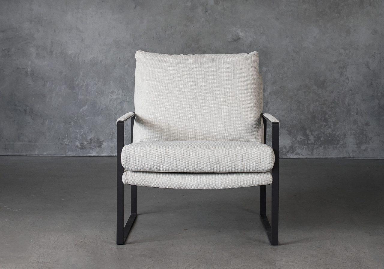 Reggie Chair in Beige fabric, Front