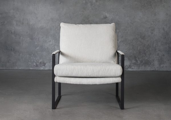 Reggie Chair in Beige fabric, Front