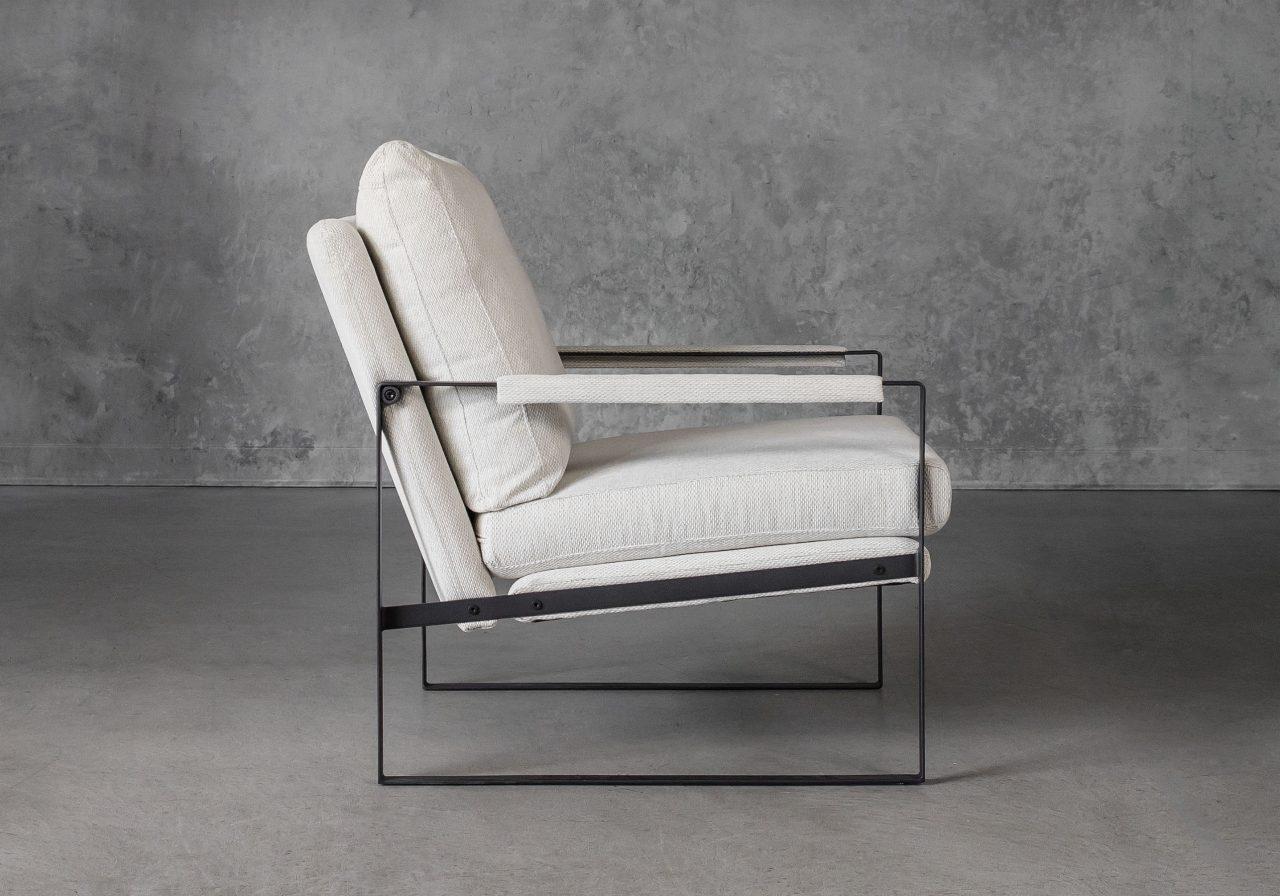 Reggie Chair in Beige fabric, Side
