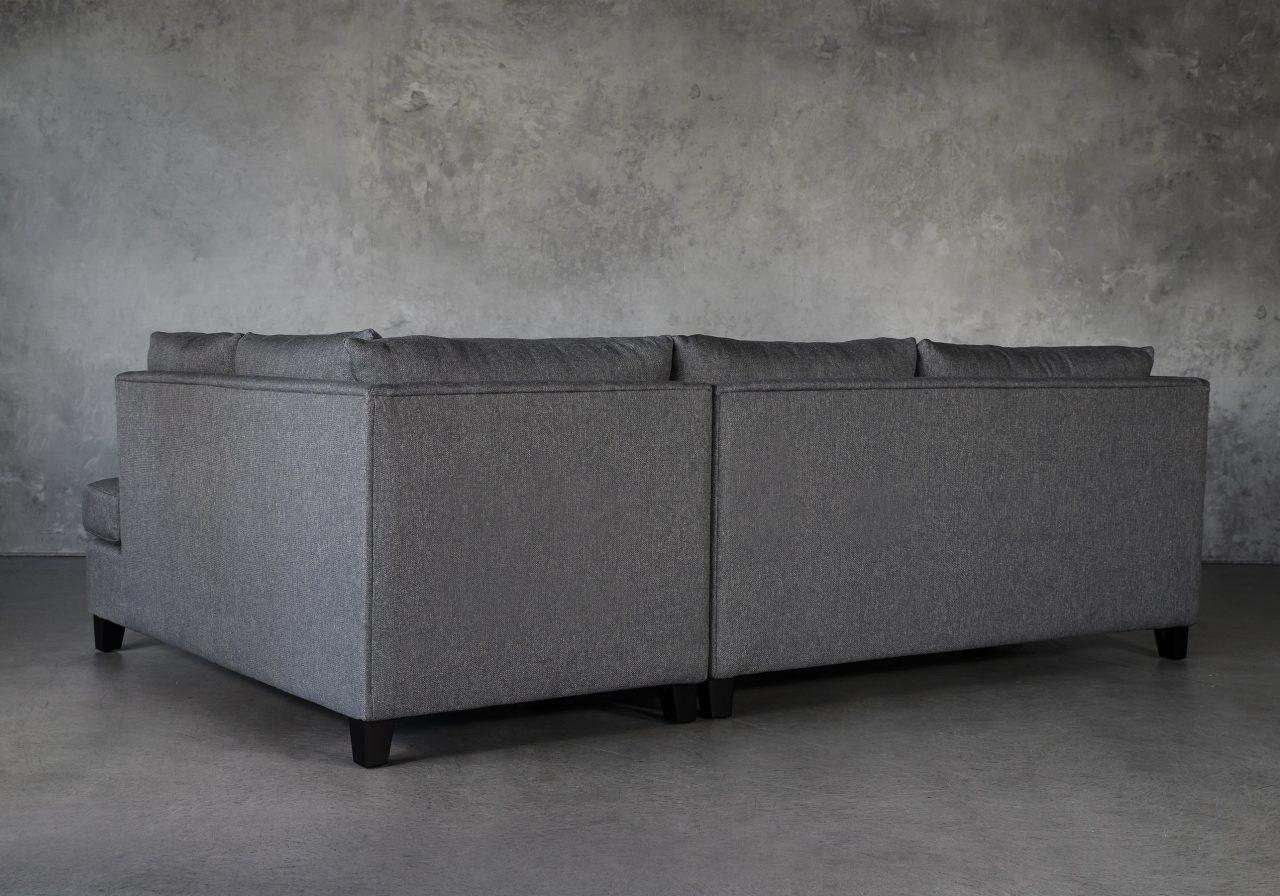 Saba 1 Arm Apartment Sofa in Grey Fabric, Back
