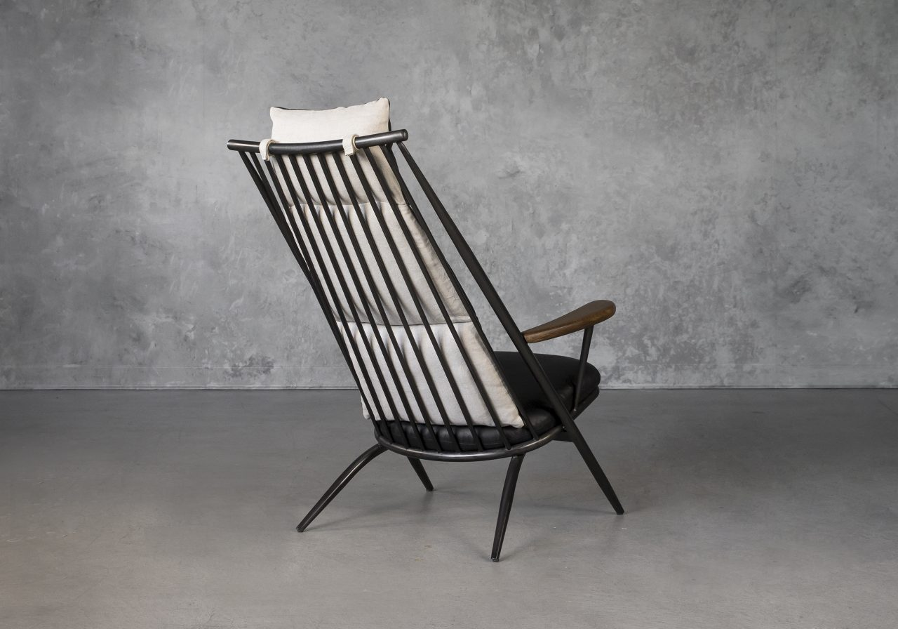 Sean Chair in Black Leather, Back