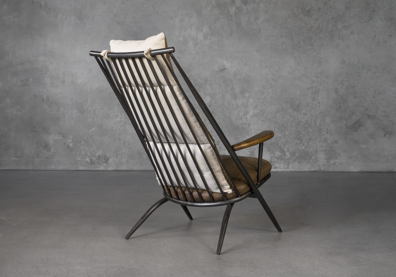 Sean Chair in Brown Leather, Back