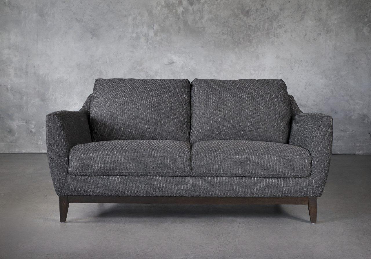 Seth Loveseat in Dark Grey Fabric, Front
