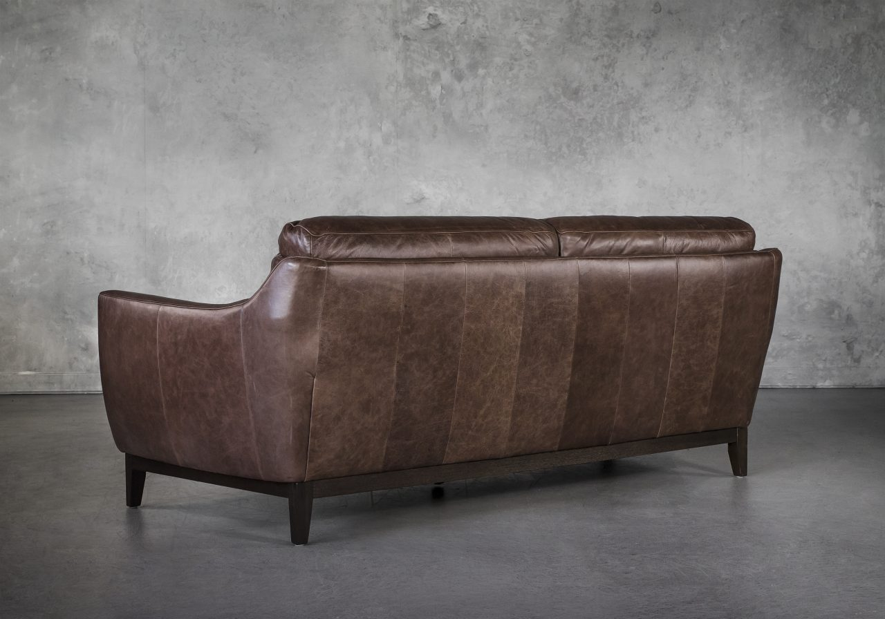 Seth Sofa in Brown Leather, Back