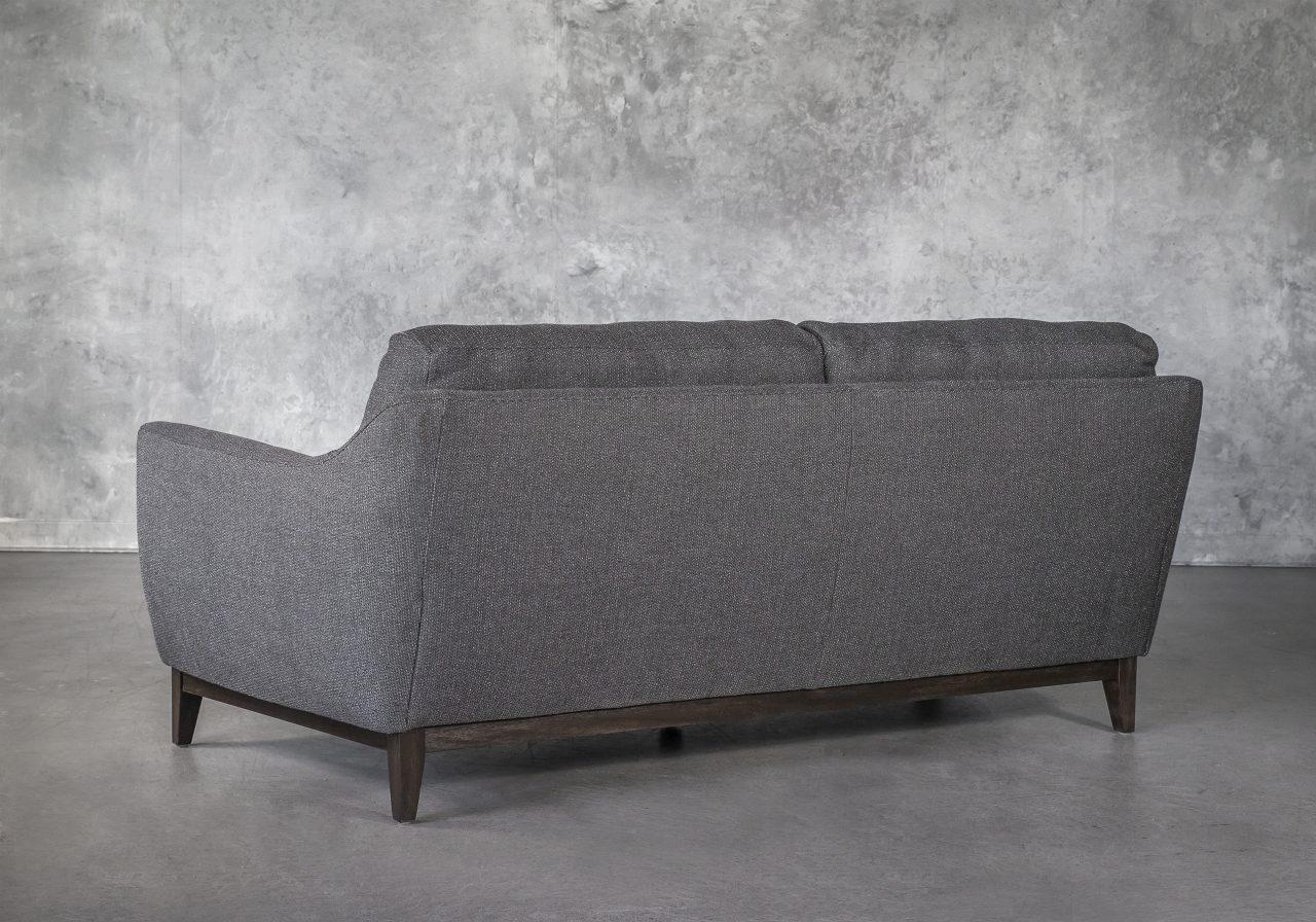 Seth Sofa in Dark Grey Fabric, Back