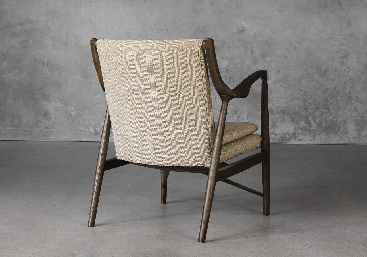Silvia Chair in Herringbone Fabric, Back