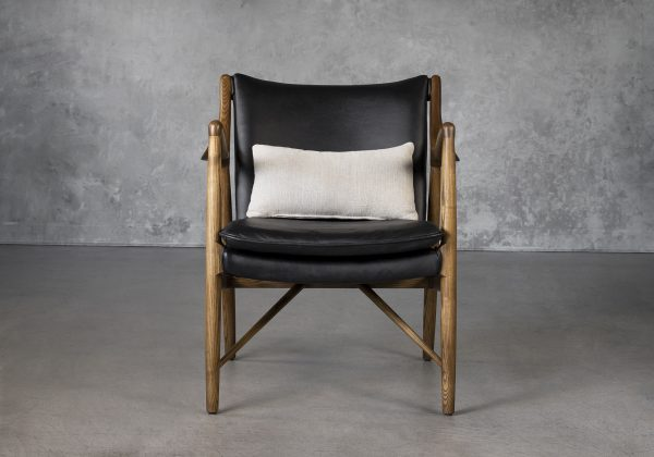 Steen Chair in Black Leather, Front
